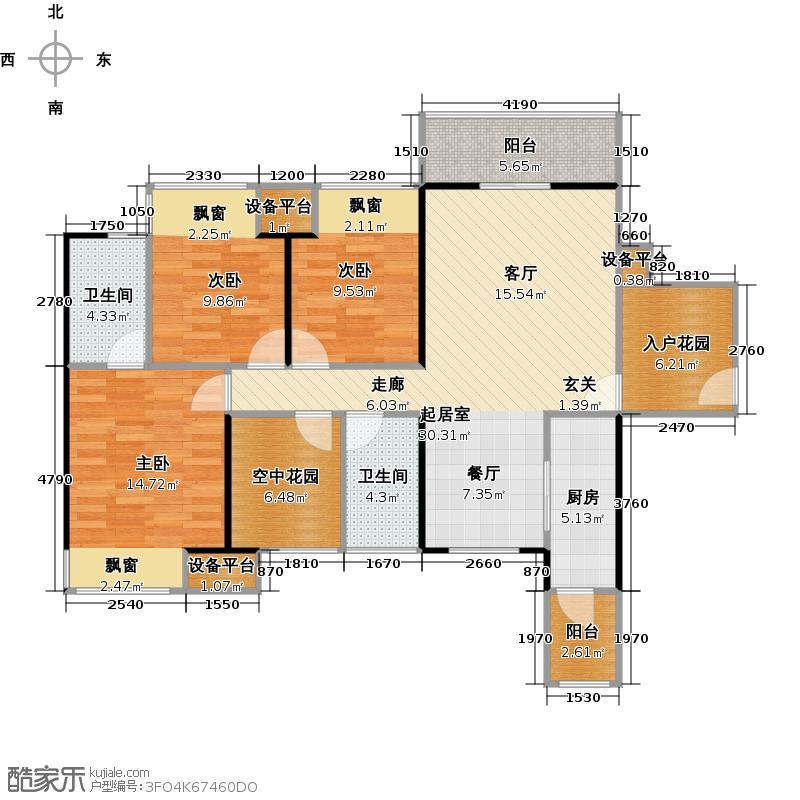 江宇世纪城2#楼-113平3+1户型
