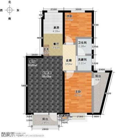 新兴北京郡2室0厅1卫0厨99.00㎡户型图