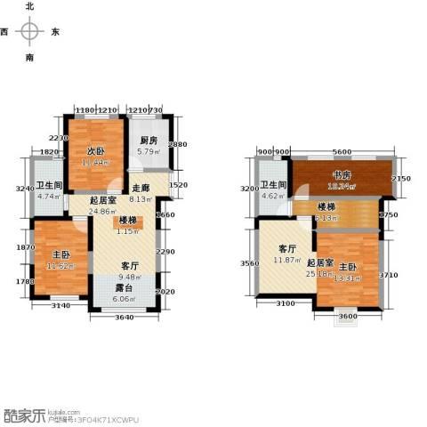 大唐东方盛世3室0厅2卫1厨134.00㎡户型图
