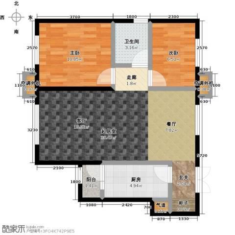 宝龙花苑2室0厅1卫1厨84.00㎡户型图