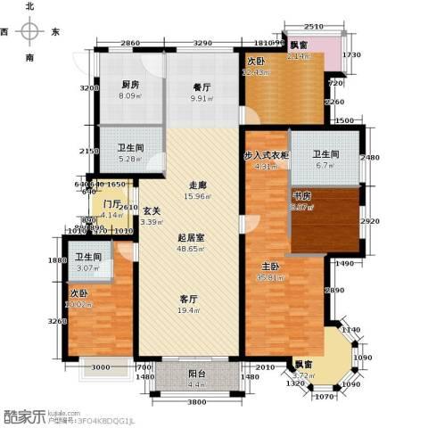 北京城建・琨廷3室0厅3卫1厨188.00㎡户型图