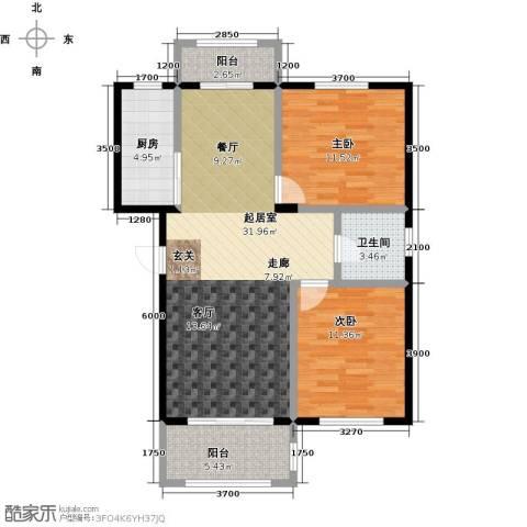 湾德里华府2室0厅1卫1厨88.00㎡户型图