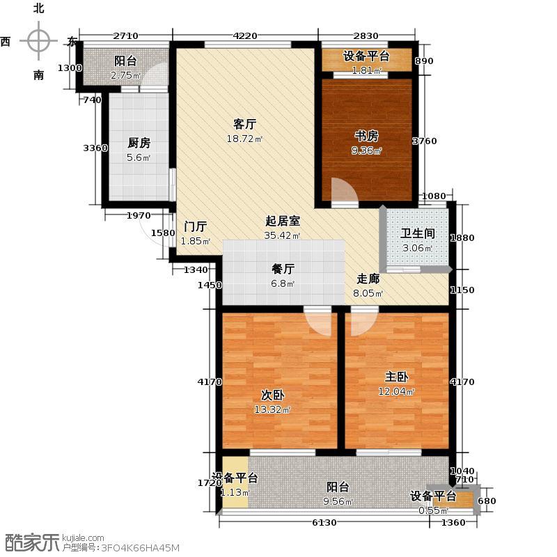 泰盈八千里106.78㎡三房二厅一卫-106.78平方米-26套户型