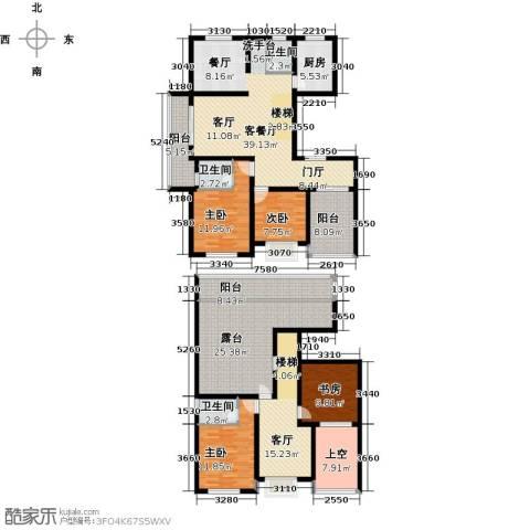上书房4室2厅3卫1厨190.00㎡户型图