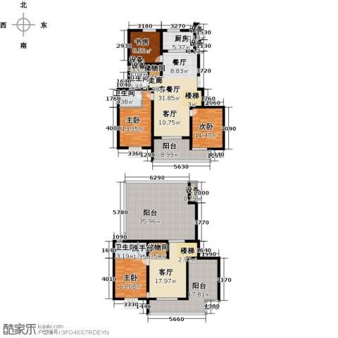 上书房4室2厅3卫1厨206.00㎡户型图