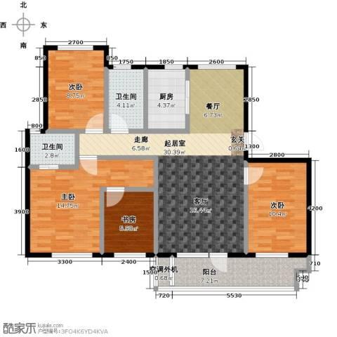 海湾新城4室0厅2卫1厨128.00㎡户型图
