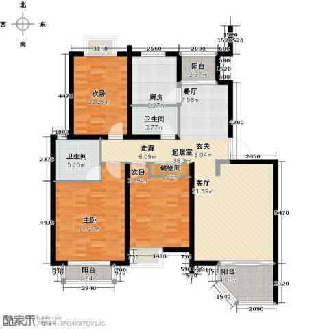 DBC加州小镇3室0厅2卫1厨122.00㎡户型图