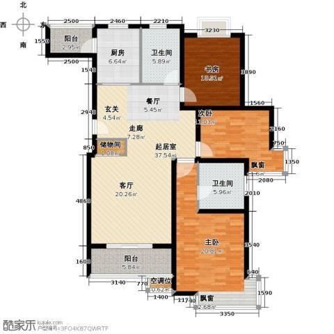 DBC加州小镇3室0厅2卫1厨125.00㎡户型图