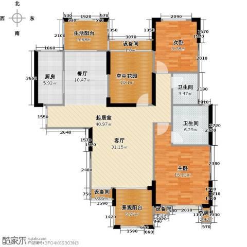 联诚国际城2室0厅2卫1厨122.00㎡户型图