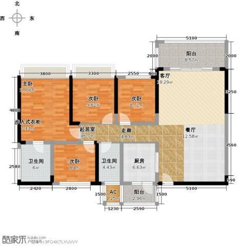 六和城4室0厅2卫1厨139.00㎡户型图