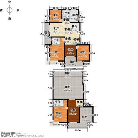 上书房6室1厅3卫1厨227.00㎡户型图