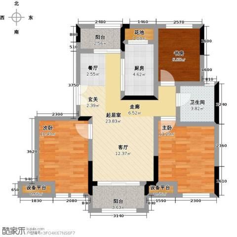 新力帝泊湾3室0厅1卫1厨83.00㎡户型图