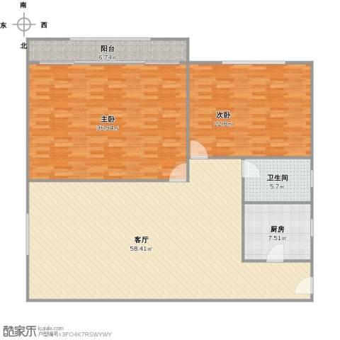 协诚中心大厦公寓2室1厅1卫1厨182.00㎡户型图
