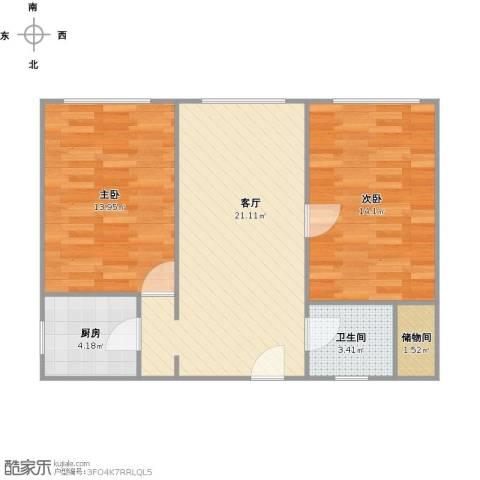 家电大楼2室1厅1卫1厨78.00㎡户型图