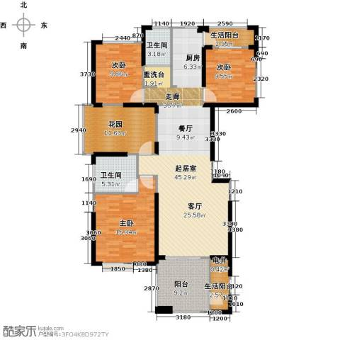 联诚国际城3室0厅2卫0厨143.00㎡户型图