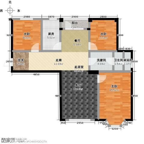 颐莲家园3室0厅1卫1厨106.00㎡户型图