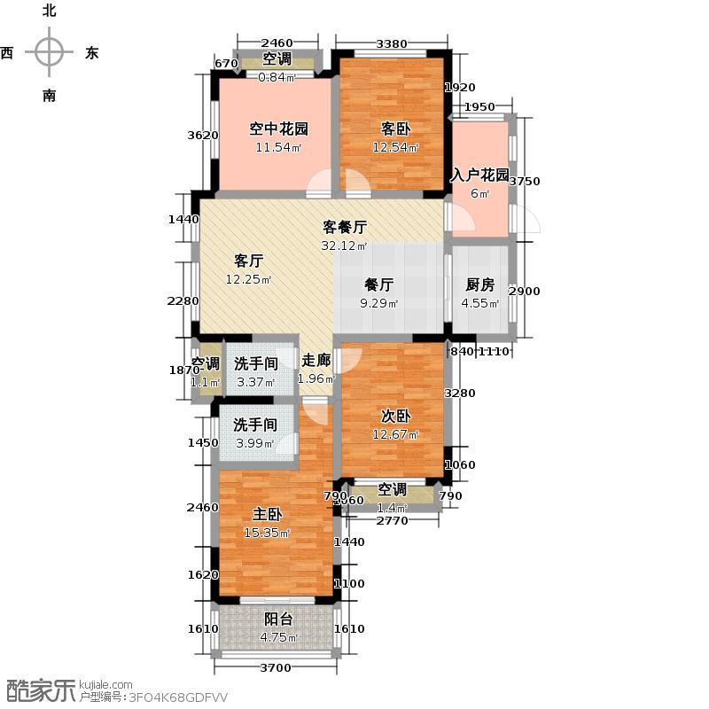 圣巴塞耶128.00㎡三房二厅二卫-128平方米-19套户型