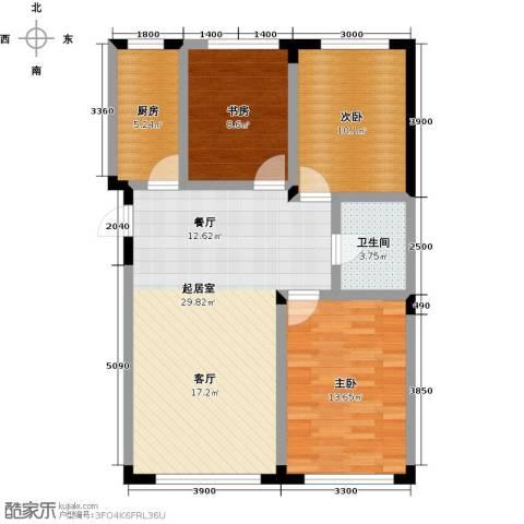 东田青年城3室0厅1卫1厨91.00㎡户型图