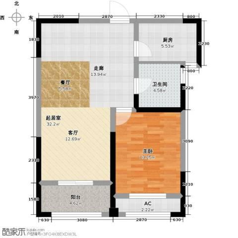 长宇棕榈湾1室0厅1卫1厨78.00㎡户型图