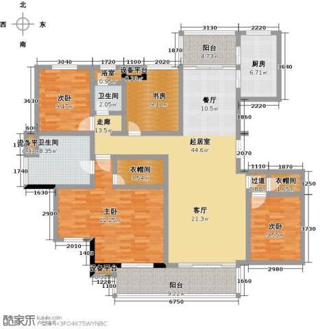 新力帝泊湾4室0厅2卫1厨157.00㎡户型图