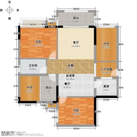 优越香格里2室0厅1卫1厨105.00㎡户型图