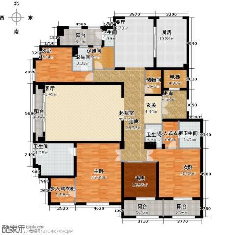 上河湾3室0厅5卫1厨275.00㎡户型图