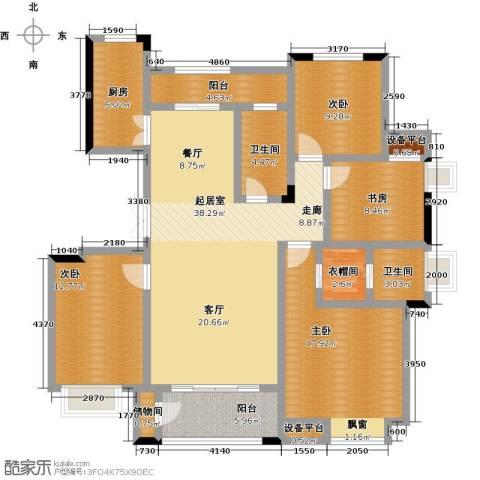 新力帝泊湾4室0厅2卫1厨135.00㎡户型图