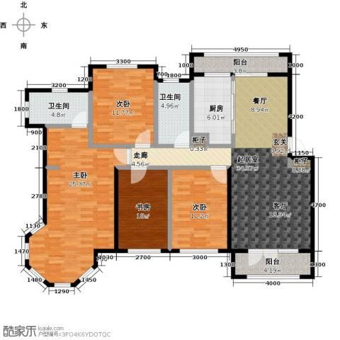 海湾新城4室0厅2卫1厨165.00㎡户型图