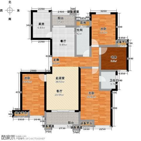 新力帝泊湾4室0厅2卫1厨142.00㎡户型图