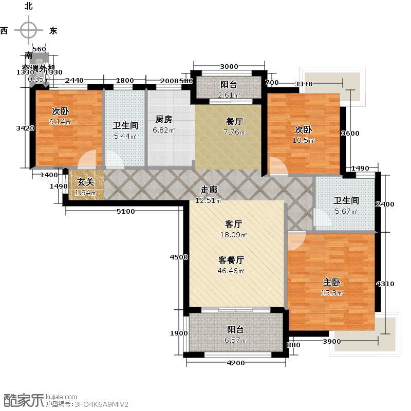 丰源淳和122.82㎡C6#C7#楼户型3室2厅2卫
