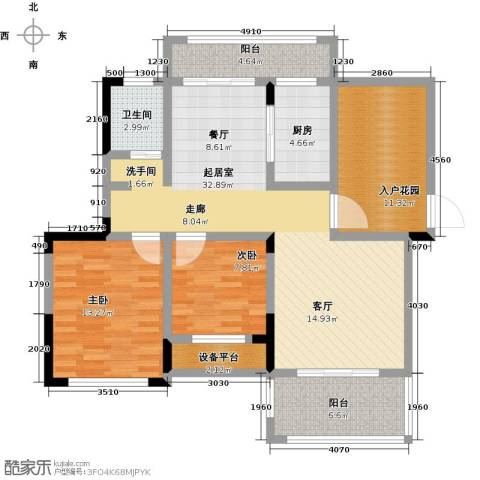 学府馨苑2室0厅1卫1厨103.00㎡户型图
