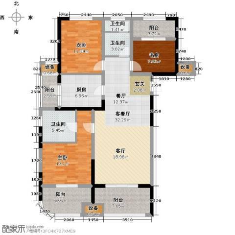 昆山颐景园3室1厅3卫1厨119.00㎡户型图