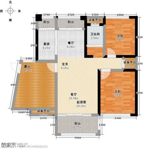 学府馨苑2室0厅1卫1厨99.00㎡户型图
