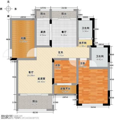 学府馨苑2室0厅2卫1厨110.00㎡户型图