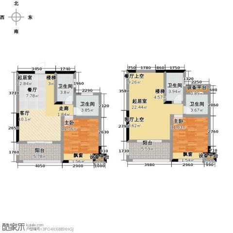 学府馨苑2室0厅4卫0厨114.00㎡户型图