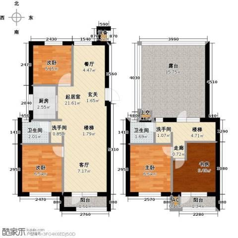 国民院子4室0厅2卫1厨90.00㎡户型图