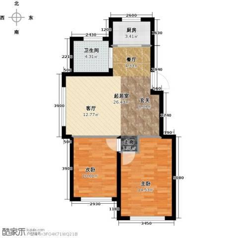 天富东苑2室0厅1卫1厨79.00㎡户型图