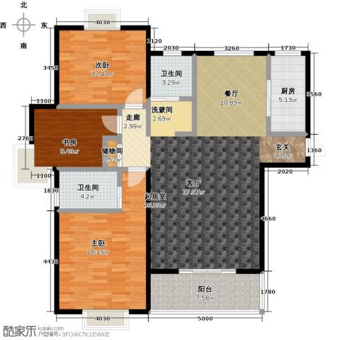 西城名邸3室0厅2卫1厨150.00㎡户型图