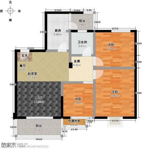 金星阳光格林3室0厅1卫1厨103.00㎡户型图
