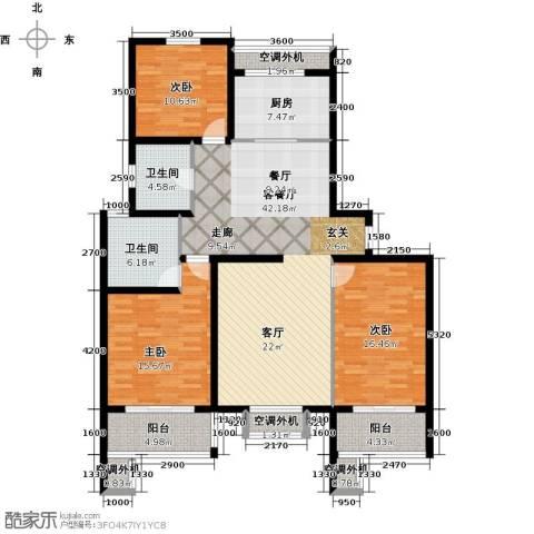 高尔夫国际花园3室1厅2卫1厨167.00㎡户型图