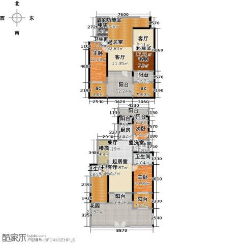 金科王府4室0厅4卫1厨196.29㎡户型图