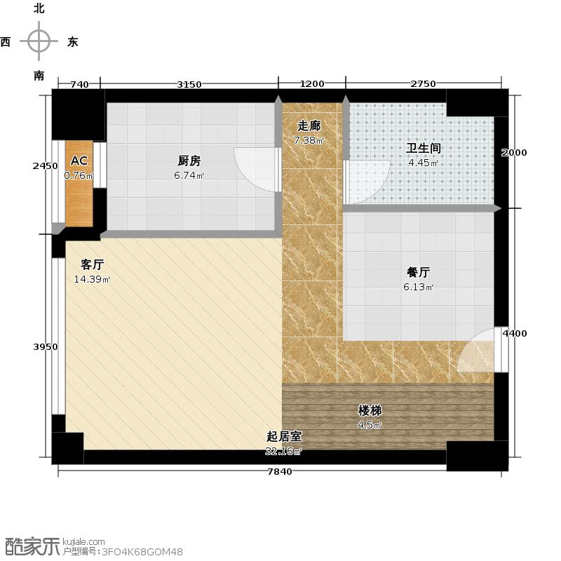 林肯公寓B首层平面户型