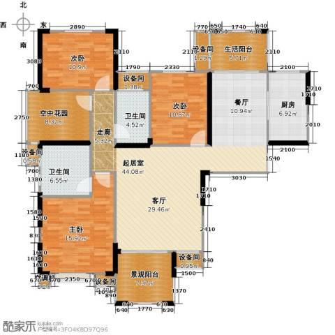 联诚国际城3室0厅2卫1厨142.00㎡户型图