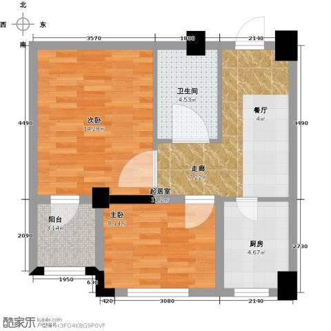 金港馨都2室0厅1卫1厨67.00㎡户型图