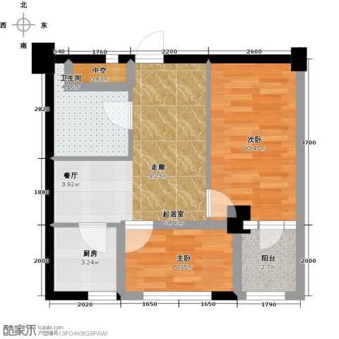 金港馨都2室0厅1卫1厨59.00㎡户型图