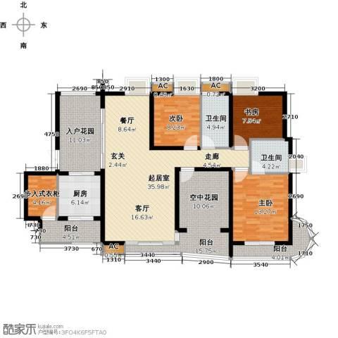 湖滨壹号3室0厅2卫1厨142.00㎡户型图