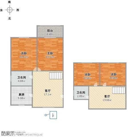 迎园路351弄小区4室2厅2卫1厨123.00㎡户型图
