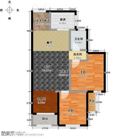 众益万国宫馆2室0厅1卫1厨82.00㎡户型图
