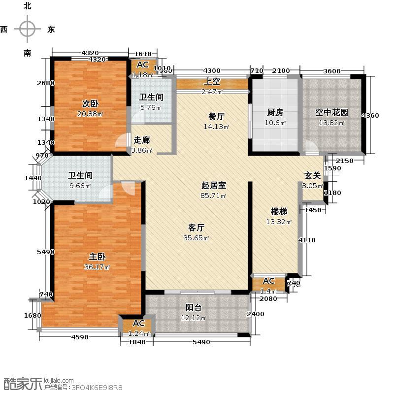 弘景湾224.00㎡417层F户型图户型4室3厅3卫QQ