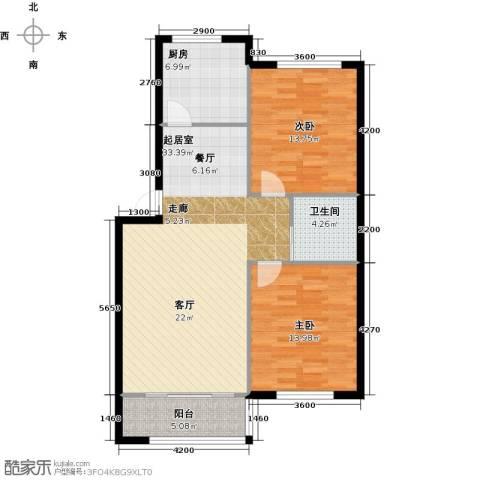 望云山景2室0厅1卫1厨102.00㎡户型图